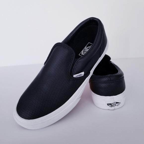 Vans Slip Ons Leather. M 5c3bda946a0bb7ca066e1f44 715646874c